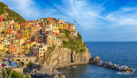 Colourful Cinque terre panorama. Stock Photography