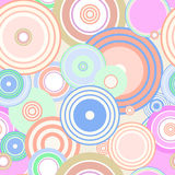 colourful circles seamless  Royalty Free Stock Photos