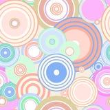 Colourful circles seamless  Royalty Free Stock Photos