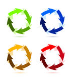 A Colourful Circular Arrow Royalty Free Stock Photography