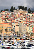 Colourful city of Menton Stock Image