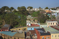 Colourful City of Valparaiso, Chile Royalty Free Stock Photography