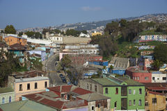 Colourful City of Valparaiso, Chile Stock Image