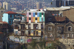 Colourful City of Valparaiso, Chile Royalty Free Stock Photos