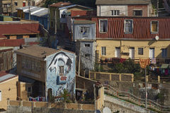 Colourful City of Valparaiso, Chile Royalty Free Stock Image