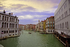 Colourful city of Venice Royalty Free Stock Images