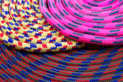 Colourful climbing rope Royalty Free Stock Photos