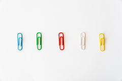 - colourful clips in a row Royalty Free Stock Images
