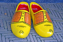 Colourful clogs in the netherlands Royalty Free Stock Photography