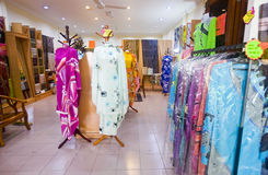Colourful Clothes and Fabrics Stock Image