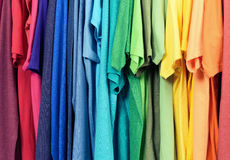 Colourful clothes hanging abstract texture background Royalty Free Stock Photography