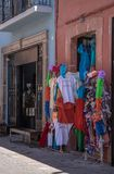 Market scene in Queretaro Mexico. royalty free stock images