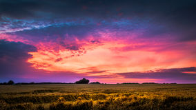 Colourful cloudscape at dusk Royalty Free Stock Photo