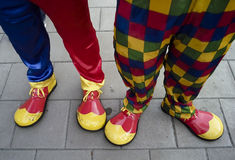 Colourful Clown Feet Royalty Free Stock Image