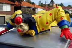Colourful Clown Statue Stock Photo