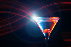 Colourful cocktail with flares Stock Image