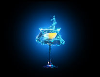 Colourful cocktail in glass Royalty Free Stock Photos