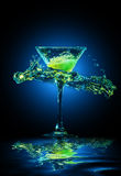 Colourful cocktail in glass Royalty Free Stock Image