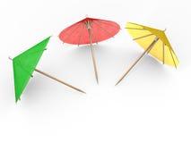 Colourful cocktail umbrellas Royalty Free Stock Photos