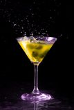 Colourful coctail on the black background Royalty Free Stock Photos