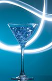 Colourful coctail on the blue background Stock Images