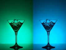 Colourful coctail on the differend backgrounds Stock Photos