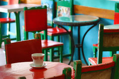Colourful coffee house Stock Image