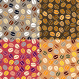 Colourful coffee seamless background Royalty Free Stock Photos