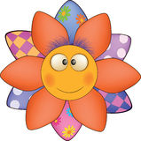 Happy cartoon flower, sun, soft toy Stock Image