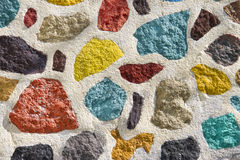 Colourful concrete wall Stock Image