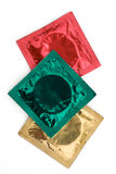 Colourful Condom Wrappers Royalty Free Stock Photos