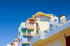 Colourful condos in Algarve Portugal Stock Photo