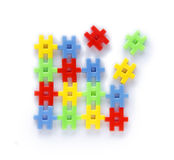 Colourful of construction toys Stock Photo