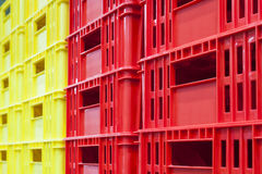 Colourful container box Plastic Basket stack Logistic business Royalty Free Stock Photo