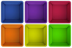 Colourful containers Royalty Free Stock Photo