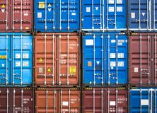Containers stack Cargo shipping Logistic freight warehouse Trans. Colourful Containers Stack Shipping Logistic warehouse Industry object royalty free stock image