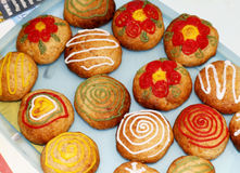 Colourful cookies Royalty Free Stock Images