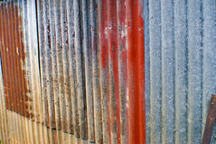 Colourful corrugated iron Stock Images