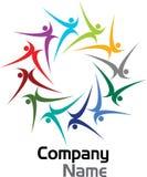 Colourful couples logo. Illustration art of a colourful couples logo with isolated background Royalty Free Illustration