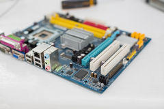 Colourful cpu close up shot Royalty Free Stock Image
