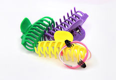 Colourful crab hair clips Royalty Free Stock Photography