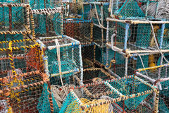 Colourful crab and lobster cages Stock Images