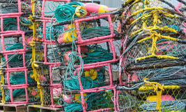Colourful Crab Pots Stock Images