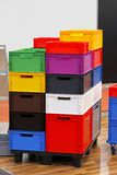 Colourful crates Stock Photography