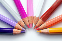 Colourful Crayons Royalty Free Stock Photos