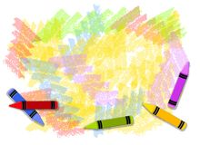 Colourful Crayons Background Stock Photo
