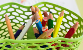 Colourful crayons Stock Image