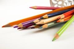Colourful crayons Stock Photos