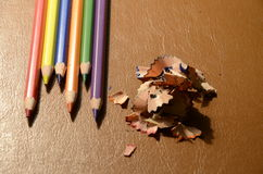 Colourful crayons Royalty Free Stock Photography