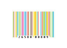 Colourful creative barcode Royalty Free Stock Photography